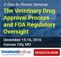 ComplianceOnline Announces Seminar on FDA Veterinary Drug