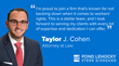 Pond Lehocky welcomes new workers' compensation attorney, Taylor Cohen