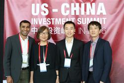 [From Right to Left] James Huang, Managing Partner of KPCB China; Bril Wang, President of Cardinal Pitch Club; Carmen Chang, Partner and Managing Director of NEA; Yashwanth Hemaraj, Principal of Benhamou Global Ventures