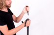 Nunchuck Trekking Pole with Knife Accessory