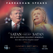 Trump, Clinton and Election 2016: Nation of Islam Minister Louis Farrakhan speaks Sunday, Oct 30, 10 am CDT on presidential candidates, election