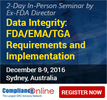 Data Integrity: FDA/EMA/TGA Requirements and Implementation