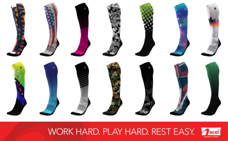 sleek well known new photos ACEL Launches First Ever Designer Compression Socks