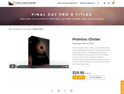 FCPX Plugin - ProIntro Circles - Pixel Film Studios