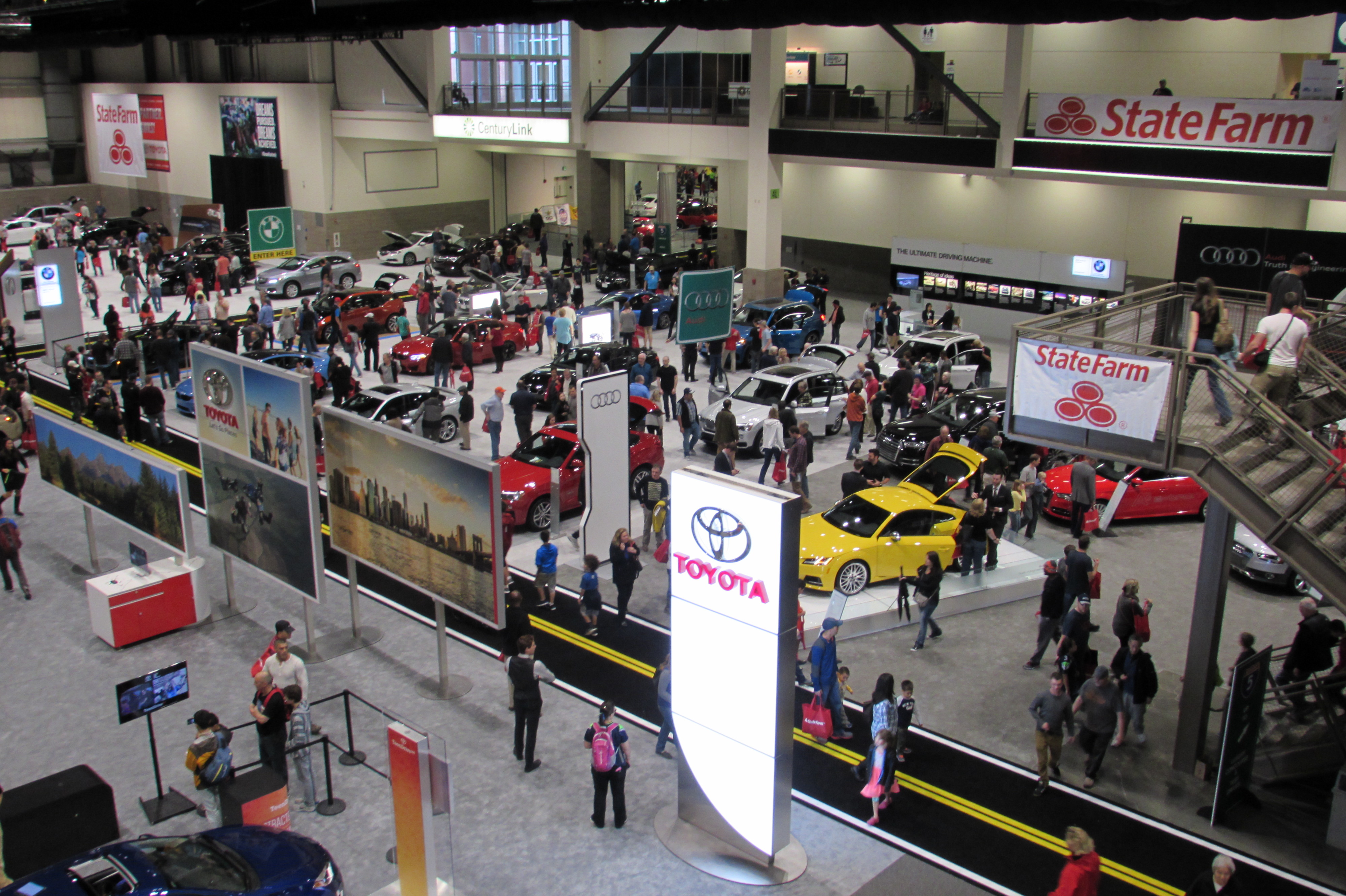 The Newest Automobiles Drive Into CenturyLink Field Event Center For - Seattle car show