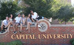 Students at Capital University, Columbus, Ohio