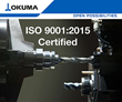 Okuma is the First Machine Tool Builder to Earn ISO 9001:2015 Quality Management Certification