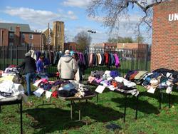 Volunteers prepare to distribute coats at Randall Memorial United Methodist Church in Washington, D.C.
