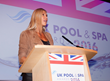 Sharron Davies MBE praised the UK's water leisure industry at the 2016 UK Pool & Spa Awards.