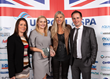 The team from Tydd St Giles Golf & Country Club collected their award for Holiday Park Pool of the Year from Sharron Davies MBE.