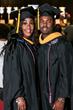 Christian Allen, left, and Gilbert Galloway Jr. graduated together at the Columbia Southern University commencement ceremonies on Oct.28 in Orange Beach, Ala.