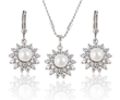 Platinum Plated Pendant and Earring