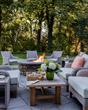 fire pit, Cape Cod home, Osterville home, Cape Cod interior design