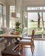 alfresco dining, dining with view outdoors, Cape Cod interior design