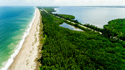 930 feet of pristine white sand Atlantic Ocean frontage-surrounded by an additional 126.5 acres of protected nature preserves