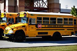 Orland School District's new Blue Bird Vision Propane buses make up 80 percent of its school transportation fleet.