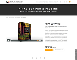 FCPX LUT Vivid - Pixel Film Studios - FCPX Plugin