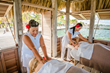 Massage over the Caribbean