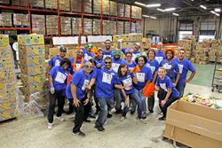 Photo of Ultimate Medical Academy Staff Volunteering at a Prior Feeding America Event