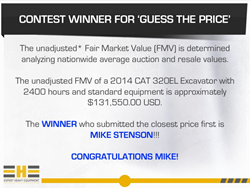 Expert Heavy Equipment Announces Winner of Facebook 'Guess the Price