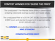 Expert Heavy Equipment Announces Winner of Facebook 'Guess the Price' Contest