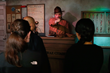 Sgt. Gunter Processes Inmates at New Escape Alcatraz Drop Ride and Show at The San Francisco Dungeon