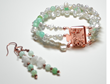 Chrysoprase & Pearl Bracelet/Earring Set from the Peace Collection by Aunt Kitty's Design