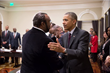 Boyd discusses the black farmers settlement progress with President Obama Feb 2016
