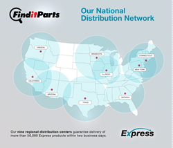 FindItParts National Distribution Map
