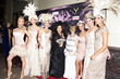 Sue Wong with Models and Socialite Mrs.Alexandrina Doheny