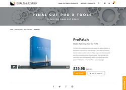 FCPX - ProPatch - Pixel Film Studios Plugin