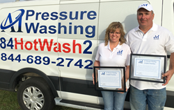 Proud new A1 Pressure Washing Franchise owners Bill and Donna Allen