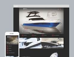Tiara Yachts website developed by Bayshore Solutions