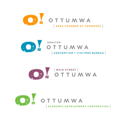 The final logo, approved by Main Street Ottumwa, Greater Ottumwa CVB, Ottumwa Economic Development Corporation, and the Ottumwa Area Chamber of Commerce, are set to be unveiled to the public in early November 2016.