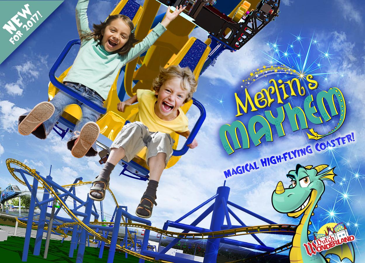 Merlin's Mayhem: Dutch Wonderland's New Ride for 2017 Unveiled