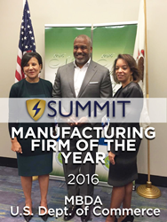 U.S. Secretary of Commerce Penny Pritzker, Adam Walker-CEO of Summit Container and Alejandra Y. Castillo, MBDA National Director
