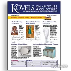 kovels, antiques, collectibles, lenci, gorham, country furniture, african american museum