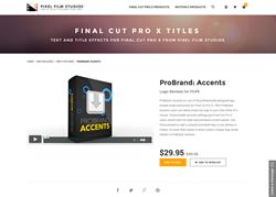 FCPX Plugin - ProBrand Accents - Pixel Film Studios