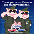 Red Hot & Blue Barbecue Restaurants Celebrate Veterans Day for Three Days for Fourth Year in a Row