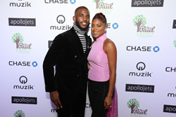 Chris and Jada Paul at the Chris Paul Family Foundation 2016 Fundraiser Dinner