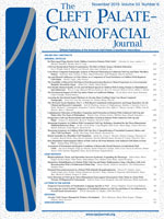 The Cleft Palate-Craniofacial Journal cover