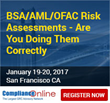 ComplianceOnline Announces Seminar on BSA/AML/OFAC Risk Assessments