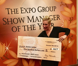Amy Schwandt, show manager of National Pavement Expo