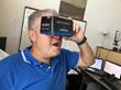 Comic fan watching Dr Strange VR comic book experience