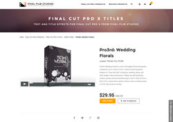 FCPX Plugin - Pro3rd Wedding Florals - Pixel Film Studios