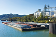 52 barge docking, moorings, cranes and conveyors for NS Rail transloading