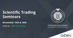 Orbex Scientific Forex Trading Seminars at LUM University, Italy