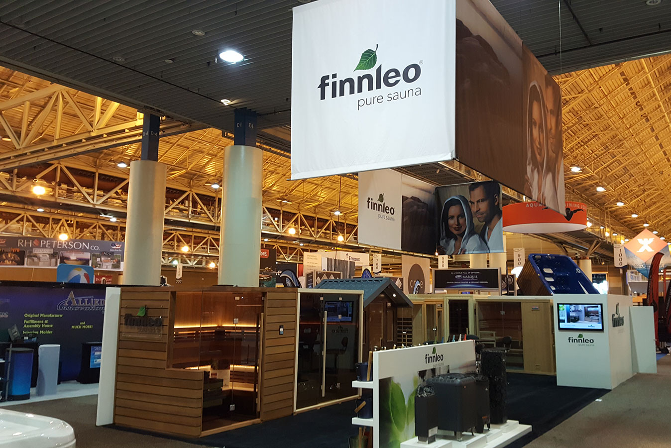 Finnleo introduced new sauna heaters more at the for Pool expo show