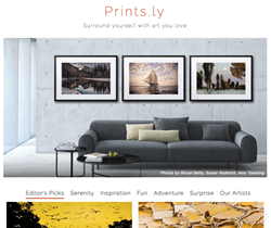 Prints.ly Home Page Experience