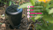 The sensors monitor fertilizer level, sunlight exposure, soil temperature, and ambient temperature via four stainless steel probes